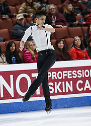 February 7, 2019 - Los Angeles, California, U.S - Kai Xiang Chew of Malaysia competes in the Men Short Program during the ISU Four Continents Figure Skating Championship at the Honda Center in Anaheim, California on February 7, 2019. (Credit Image: © Ringo Chiu/ZUMA Wire)