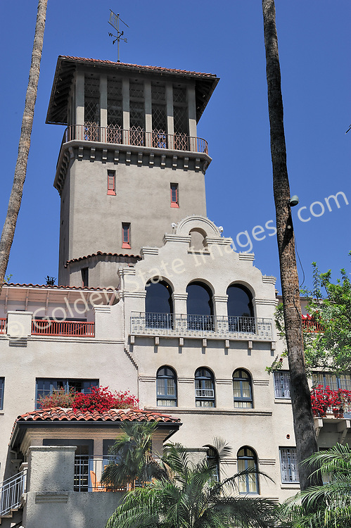 The Old Mission Hotel is a National Historic Landmark and recognized as one of the signature buildings in Riverside California. <br /> <br /> Originally opened in 1903 the Mission wing of the hotel was built in the Mission-Revival style. <br /> <br /> By 1931 three additional wings had been added. The Cloister, Spanish and Rotunda wings completed the original floor plan.