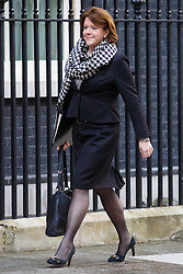 © Licensed to London News Pictures. 05/04/14 Pressure grows on Maria Miller as it emerges that she warned Commons standards Commissioner  FILE PICTURE DATED  04/02/2014. Culture Secretary Maria Miller attending to a cabinet meeting in Downing Street on Tuesday, 4 February 2014. Photo credit: Tolga Akmen/LNP