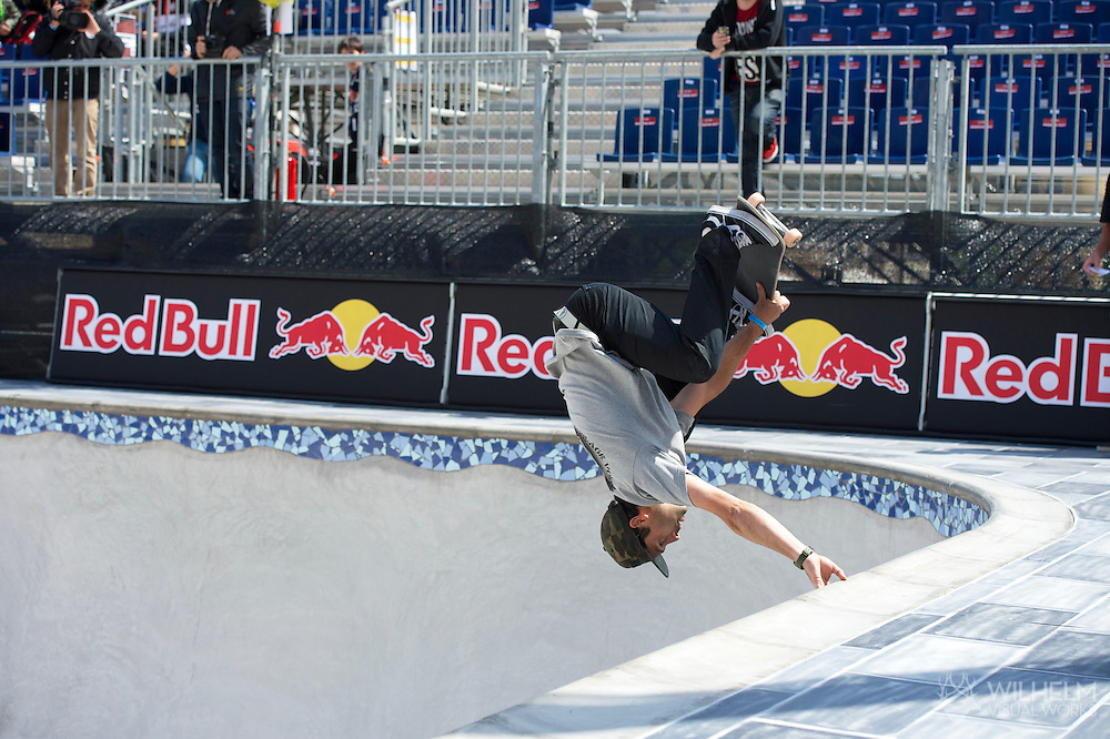 Alain Goikoetxea during Men's Skate Park Eliminations at the 2013 X Games Barcelona in Barcelona, Spain. ©Brett Wilhelm/ESPN