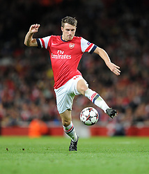 Arsenal's Aaron Ramsey - Photo mandatory by-line: Alex James/JMP - Tel: Mobile: 07966 386802 22/10/2013 - SPORT - FOOTBALL - Emirates Stadium - London - Arsenal v Borussia Dortmund - CHAMPIONS LEAGUE - GROUP F