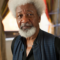 """Steve Bisgrove<br /> Rome, Italy<br /> http://www.stevebisgrove.com<br /> <br /> Wole Soyinka, Nigerian writer photographed at """"Le Conversazioni"""" on Capri on 7th July, 2012."""