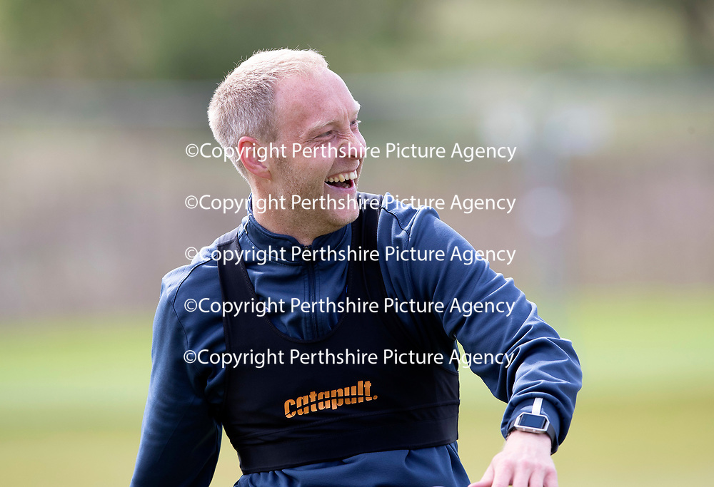 St Johnstone Training…04.05.18<br />Steven Anderson pictured all smiles during training this morning at McDiarmid Park<br />Picture by Graeme Hart.<br />Copyright Perthshire Picture Agency<br />Tel: 01738 623350  Mobile: 07990 594431