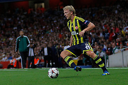 27.08.2013, Emirates Stadion, London, ENG, UEFA CL Qualifikation, FC Arsenal vs Fenerbahce Istanbul, Rueckspiel, im Bild Fernerbache's Dirk Kuyt during the UEFA Champions League Qualifier second leg match between FC Arsenal and Fenerbahce Istanbul at the Emirates Stadium, United Kingdom on 2013/08/27. EXPA Pictures © 2013, PhotoCredit: EXPA/ Mitchell Gunn<br /> <br /> ***** ATTENTION - OUT OF GBR *****