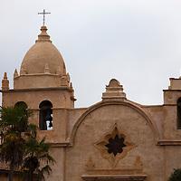 USA, California, Carmel by the Sea. Mission San Carlos de Borromeo de Carmelo, or Mission Carmel.