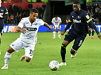 Football - 2018 / 2019 Sky Bet EFL Championship - Swansea City vs. Derby County<br /> <br /> Wayne Routledge Swansea City on the attack at The Liberty Stadium.<br /> <br /> COLORSPORT/WINSTON BYNORTH