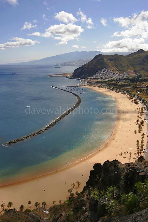 Playa de Teresitas, Tenerife, The Canary Islands, beach near Santa Cruz de Tenerife