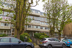 The Richmond, South West London, apartment block where Laleh Shahravesh lives with her daughter. She has been arrested and is detained in Dubai after allegedly making disparaging comments about her late husband's new wife.  London, April 08 2019.
