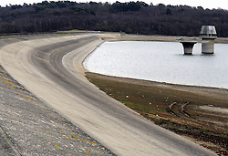 © Licensed to London News Pictures. 21/02/2012. Bewl water reservoir in Lamberhurst Kent. Much of southern and eastern England is officially in a state of drought, the Department for Environment, Food and Rural Affairs (defra) has announced.The announcement came as Environment Secretary Caroline Spelman hosted a drought summit. In parts of south-east England groundwater levels are lower than in the famous dry summer of 1976. Photo credit : Grant Falvey/LNP