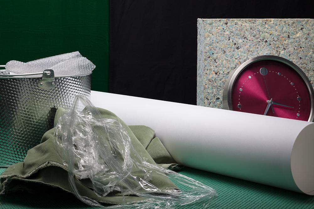 Paper, Plastic, Galvanised Steel, Foam etc.
