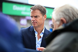 10th September 2017 - Premier League - Burnley v Crystal Palace - Palace manager Frank de Boer signs autographs as he arrives at the ground - Photo: Simon Stacpoole / Offside.