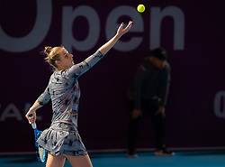 February 13, 2019 - Doha, QATAR - Kristyna Pliskova of the Czech Republic in action during second round at the 2019 Qatar Total Open WTA Premier tennis tournament (Credit Image: © AFP7 via ZUMA Wire)