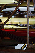 Atlanta, USA,  Boats and oar racks, at the 1996, Olympic Rowing Regatta at Lake Lanier, Gainsville Georgia,  [Photo Peter Spurrier/Intersport Images]