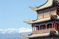 Chine. Province du Gansu. Grande muraille à Jiayuguan. // Great Wall, Jiayuguan, Gansu province, China
