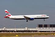 G-EUXH British Airways Airbus A321-200, Photographed at Malpensa (MXP / LIMC), Milan, Italy