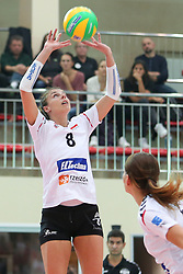 October 21, 2017 - Rzeszow, Poland - Anna Kaczmar (Developres),  in action during CEV Volleyballl Champions League volleybal women match between Developres Rzeszow and Hapoel Kfar Saba on 21 October 2017 in Rzeszow, Poland. (Credit Image: © Foto Olimpik/NurPhoto via ZUMA Press)