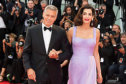 Suburbicon premiere at the 74th Venice Film Festival. 02 Sep 2017 Pictured: George Clooney , Amal Clooney. Photo credit: Daniele Cifalà / MEGA TheMegaAgency.com +1 888 505 6342