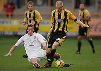 Photo: Marc Atkins.<br />Boston United v Hereford United. Coca Cola League 2. 25/11/2006. Jason Kennedy (R) of Boston in action with Neil Mackenzie of Hereford.