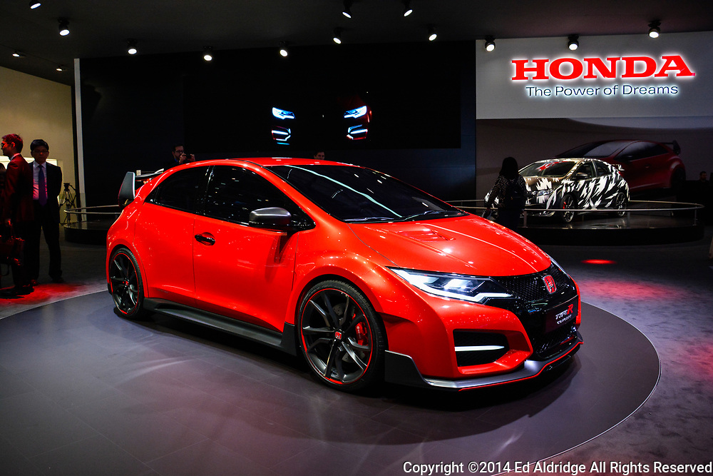GENEVA, SWITZERLAND - MARCH 4, 2014: Honda Civic Type R concept car on display during the Geneva Motor Show.