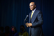 NC A&T Chancellor Harold L. Martin, Sr., speaks to the hundreds gathered early Sunday evening for the 2021 Mister and Miss North Carolina A&T State University Coronation.<br /> <br /> (Chris English/Tigermoth Creative)