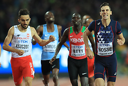 France's Pierre-Ambroise Bosse (right) wins the Men's 800m Final during day five of the 2017 IAAF World Championships at the London Stadium.