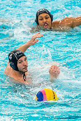 Nicolas Missy ofFrance in action against the Netherlands during the Olympic qualifying tournament. The Dutch water polo players are on the hunt for a starting ticket for the Olympic Games on February 17, 2021 in Rotterdam