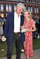 The 12th Duke of Beaufort and Georgia Powell at the Victoria & Albert Museum's Summer Party in partnership with Harrods at The V&A Museum, Exhibition Road, London, England. 20 June 2018.