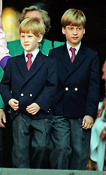 File photo dated 25/10/1990 of Prince William (right) and Prince Harry leaving St Paul's cathedral in London after a service to commemorate the 50th anniversary of the Blitz.