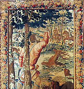 Tapestry depicting the Maximilian I Holy Roman Emperor hunting 1660.