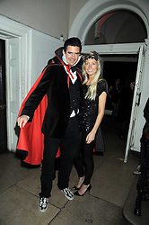 EDWARD TAYLOR and MARTHA WARD at a Halloween party hosted by Alexa Chung and Browns Focus held at the House of St.Barnabas, 1 Greek Street, London on 31st October 2008.