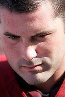 7 October 2006: Quarterback John David Booty during local media interview after a win.  NCAA College Football Pac-10 USC Trojans 26-20 win over the Washington Huskies at the LA Coliseum during a sunny saturday game in Los Angeles, CA.