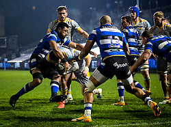 Juan de Jongh of Wasps is held by Taulupe Faletau of Bath Rugby on a dart for the line - Mandatory by-line: Andy Watts/JMP - 08/01/2021 - RUGBY - Recreation Ground - Bath, England - Bath Rugby v Wasps - Gallagher Premiership Rugby