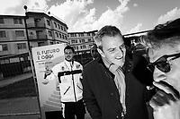 CASTELVOLTURNO (CE) - 3 FEBBRAIO 2018: Partecipanti all'evento di apertura del cantiere per l'ampliamento della struttura ospedaliera dell'Ospedale Pineta Grande di Castelvolturno, inaugurato da Vincenzo De Luca (Partito Democratico), Presidente della Regione Campania ed ex sindaco di Salerno, a Castelvolturno (CE) il 3 febbraio 2018.<br /> <br /> Le elezioni politiche italiane del 2018 per il rinnovo dei due rami del Parlamento – il Senato della Repubblica e la Camera dei deputati – si terranno domenica 4 marzo 2018. Si voterà per l'elezione dei 630 deputati e dei 315 senatori elettivi della XVIII legislatura. Il voto sarà regolamentato dalla legge elettorale italiana del 2017, soprannominata Rosatellum bis, che troverà la sua prima applicazione<br /> <br /> ###<br /> <br /> CASTELVOLTURNO, ITALY - 3 FEBRUARY 2018: Participants of the inauguration event for the opening of the construction site for the extension of the Pineta Grande Hospital of Castelvolturno, inaugurated by Vincenzo De Luca (Democratic Party / Partito Democratico), President of the Campania region and former mayor of Salerno, are seen here in Castelvolturno, Italy, on February 3rd 2018.<br /> <br /> The 2018 Italian general election is due to be held on 4 March 2018 after the Italian Parliament was dissolved by President Sergio Mattarella on 28 December 2017.<br /> Voters will elect the 630 members of the Chamber of Deputies and the 315 elective members of the Senate of the Republic for the 18th legislature of the Republic of Italy, since 1948.