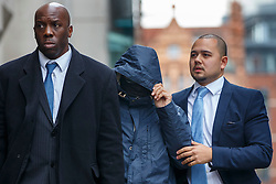© Licensed to London News Pictures. 21/10/2016. London, UK. Former News of the World journalist MAHZER MAHMOOD arrives at The Central Criminal Court in London for perverting the course of justice on Friday, 21 October 2016. Photo credit: Tolga Akmen/LNP