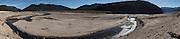 USA, Oregon, Detroit Lake State Recreation Area,Detroit Lake during the drought of 2015. digital composite, panorama