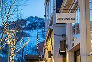 Shopping in downtown Aspen, Colorado.