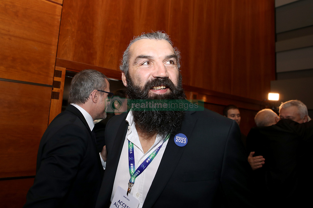 Sebastien Chabal during the 2023 Rugby World Cup host union announcement at The Royal Garden Hotel, Kensington.