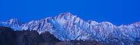 Lone Pine peak in pre-dawn light, Sierra Nevada mountains, California
