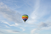 'Easy Rider' in flight, Crown of Maine Balloon Fair, Presque Isle, Maine.