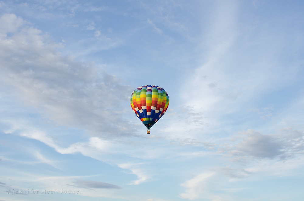 'Easy Rider' in flight, Crown of Maine Balloon Fair, Presque Isle, Maine.