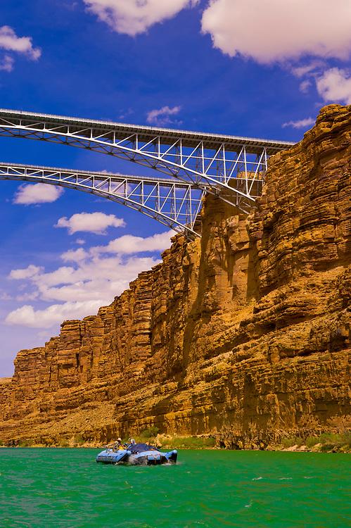 Navajo Bridge in Marble Canyon, Glen Canyon National Recreation Area, Colorado River, Arizona USA