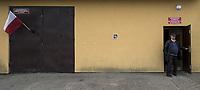 Saniki, woj podlaskie, 21.10.2018. Glosowanie w Obwodowej Komisji Wyborczej nr 3 mieszczecej sie w remizie OSP N/z glosowanie fot Michal Kosc / AGENCJA WSCHOD