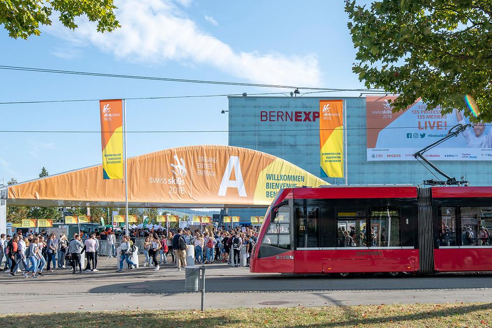 12. September 2018; Bern; swiss skills 2018  - 2. Tag - Ankunft der Schulklassen (Michael Zanghellini)