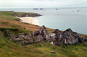 Ruins onThe Great Blasket Island ..Picture by Don MacMonagle..