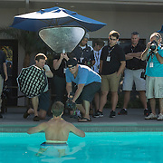 Students practicing their off camera lighting techniques  with Lucas Gilman on day 2 of Sports Shooter Academy X1 in Costa Mesa, California on 11/6/14 Behind the Scenes with the cast and crew of Sports Shooter Academy.
