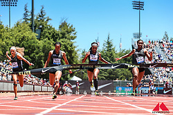 High School girls 100 meters, Kenondra Davis wins over Davies, USA, and Pierre-Webster, Canada, 2019 The Prefontaine Classic Track & Field<br /> IAAF Diamond League