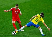 Sergej Milinkovic-Savic (Serbia) and Costa Luis Filipe (Brazil)<br /> Moscow 27-06-2018 Football FIFA World Cup Russia  2018 <br /> Serbia - Brazil / Serbia - Brasile<br /> Foto Matteo Ciambelli/Insidefoto