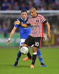 Sunderland's Wahbi Khazri (right) shields the ball from Carlisle United's Mike Jones