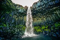 Svartifoss waterfall,Skaftafell National Park, Southeast Iceland