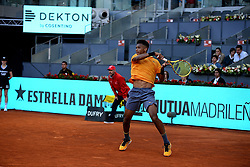 May 5, 2019 - Madrid, Spain - Felix Auger-Aliassime (CAN) during day two of the Mutua Madrid Open at La Caja Magica in Madrid on 5th May, 2019. (Credit Image: © Juan Carlos Lucas/NurPhoto via ZUMA Press)